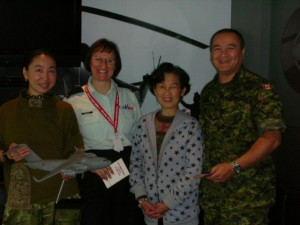 Lily mum visiting leaders in Canadian Force 1