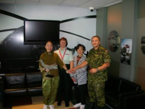 Lily mum visiting leaders in Canadian Force 2