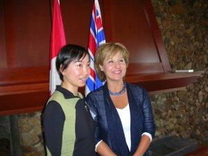 Lily n BC Premier Christy Clark