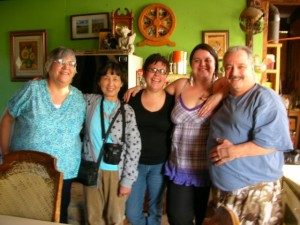 Lily n mum visiting Native family 1