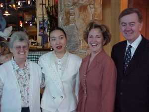 ruth n lily with Founder of Governing Party of Canada Mr & Mrs Preston Manning 2