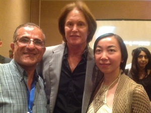 with Bruce Jenner